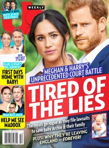 Us Weekly Cover Issue 4219 Duchess Meghan and Prince Harry Court Battle