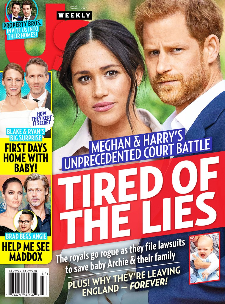 Us Weekly Cover Issue 4219 Prince William Will Be Supportive of Prince Harry's Legal Action